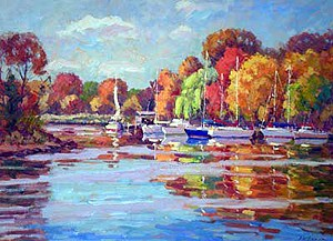 Autumn Morning from Garrett Park Painting by Bill Schmidt